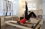 Bridge one leg sur Reformer